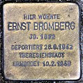 Stolperstein Konstanzer Str 4 (Wilmd) Ernst Bromberg.jpg