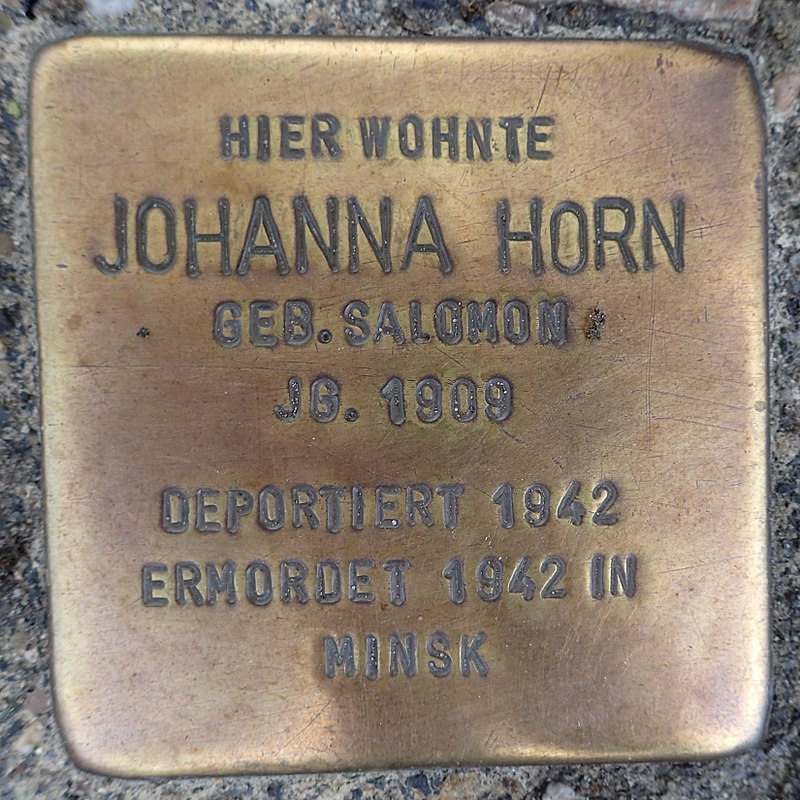 Stolperstein Metelen Schilden 15 Johanna Horn
