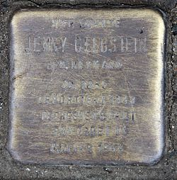 Photo of Jenny (Jeanette) Gelbstein brass plaque