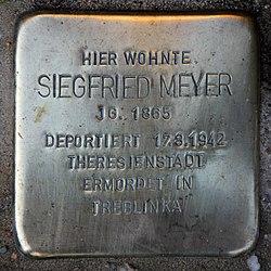 Photo of Siegfried Meyer brass plaque