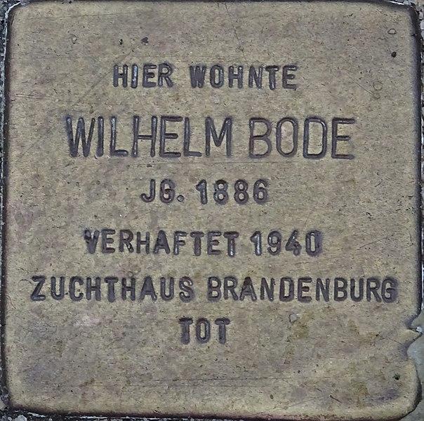 File:Stolperstein Wilhelm Bode.jpg