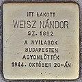 Stolperstein für Nandor Weisz (Budapest).jpg