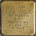 Stolpersteine Krefeld, Sara Marcus (Südwall 34).jpg