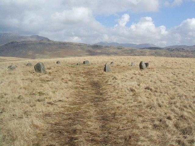 Stone circle on White Moss - geograph.org.uk - 746574