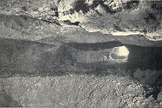 Stoping - A large stope in the Treadwell gold mine, Alaska 1908; an example of shrinkage stoping