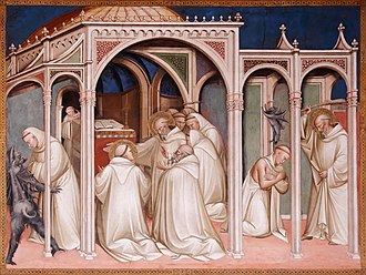 Spinello Aretino - Story of St Benedict (fragment)