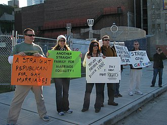 Straight ally - Image: Straight Allies protesting