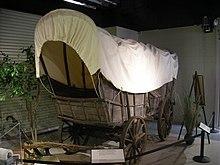 Studebaker National Museum May 2014 002 (c. 1835 Studebaker Conestoga Wagon).jpg