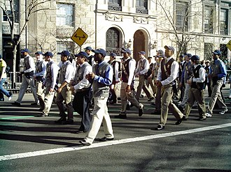 Mount Saint Michael Academy - Students marching in the 2010 St. Patrick's Day Parade