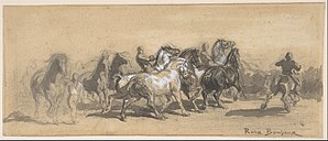"The Horse Fair - Image: Study for ""The Horse Fair"" MET DP805217"