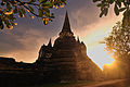 Stupa (Chedi) Phrasrisanpetch Temple of Ayudtaya, Thailand.jpg