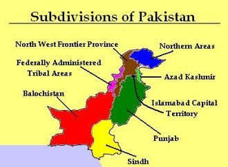 Politics of Pakistan - The subdivisions of Pakistan