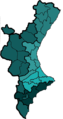 Subdivisions of the Land of Valencia purposed by Joan Soler i Riber in 1964.png