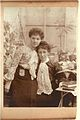Such an intimate Edwardian portrait. Possibly two of the Hook sisters? (6914725752).jpg