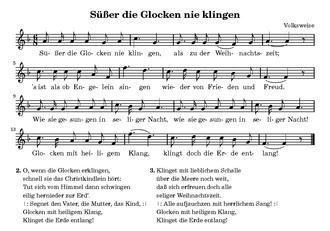 Texte Weihnachtslieder Zum Ausdrucken.Süßer Die Glocken Nie Klingen Wikipedia