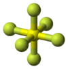 Ball-and-stick model of sulfur hexafluoride