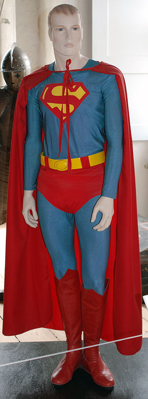 This is an original Superman costume owned by ...