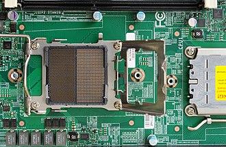 Socket C32 - Image: Supermicro dual opteron server board cpu socket IMGP7338 wp
