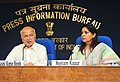Sushil Kumar Shinde holding a press conference to present the Report Card of the Ministry of Home Affairs for the month of May 2013, in New Delhi. The Principal Director General (M&C), Press Information Bureau.jpg