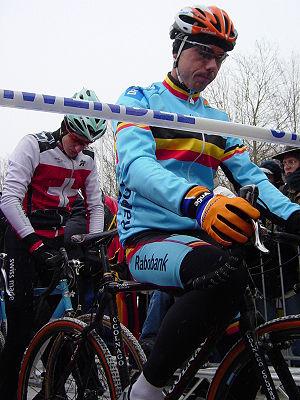 Sven Nys - Nys at the 2005 UCI Cyclo-cross World Championships.