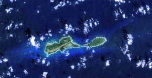 Swan Islands, Honduras - NASA satellite image