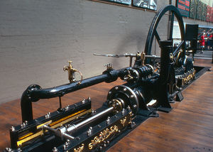 Piston rod - Stationary steam engine from Swannington Incline. Note the tail rod and secondary crosshead