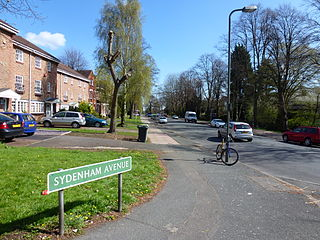 Sydenham, London area in the London Borough of Lewisham, England