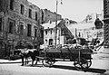 Tűzifával megrakott lovaskocsi, 1945 Budapest. Fortepan 52048.jpg