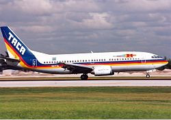 TACA International Airlines Boeing 737-300 JetPix.jpg