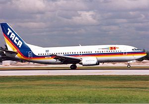 Avianca El Salvador - A TACA International Airlines Boeing 737-300 (circa 1994).