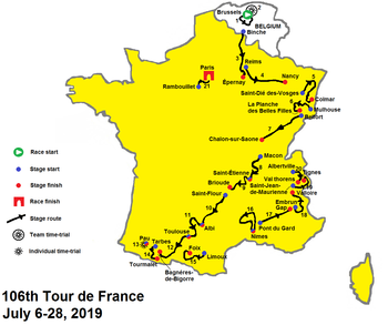 Tour De France 2020 Standings.2019 Tour De France Stage 12 To Stage 21 Wikipedia