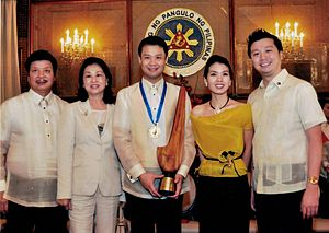 Win Gatchalian - Gatchalian, during the awarding ceremony of TOYM 2011 in the Malacañang Palace.
