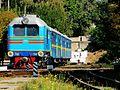 TU2 144 near Zhotvneva station, Zaporizhzhya children railway.jpg