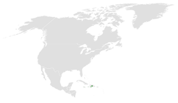 Tachycineta euchrysea distribution map.png