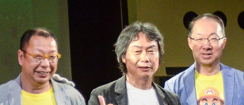 File:Takashi Tezuka, Shigeru Miyamoto and Kōji Kondō (cropped).jpg