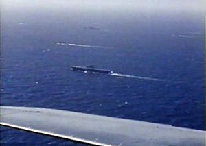 Yorktown-class aircraft carrier - Enterprise and Hornet underway in May 1942.