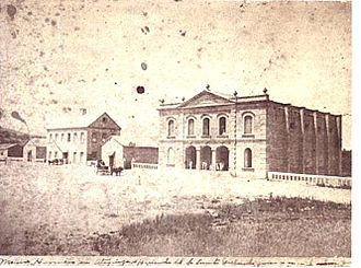 Hacienda - Wheat mill and theatre of Vicente Gallardo; Hacienda Atequiza, Jalisco, Mexico, 1886.