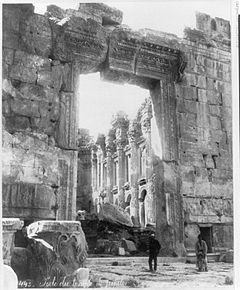 Temple of Jupiter, Baalbek, (PD)