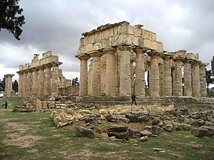 History of Libya - The temple of Zeus in the ancient Greek city of Cyrene. Libya has a number of World Heritage Sites from the ancient Greek era.