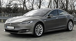 Tesla Model S - Image: Tesla Model S (Facelift ab 04 2016) trimmed