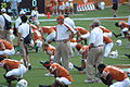 Texas warmups prior to KSU game 2007.jpg