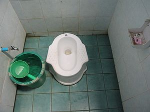 Squat toilet found in Chiang Dao, Thailand.