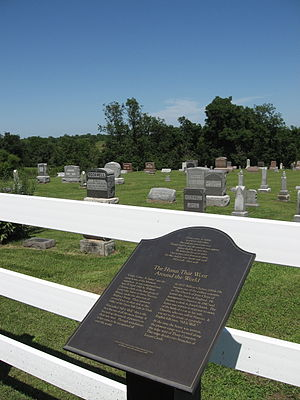 Come, Come, Ye Saints - Commemorative plaque at Locust Creek, in Wayne County, Iowa, where William Clayton composed the hymn