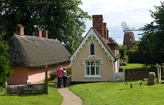 Almshouse - Almshouses at the parish church of St John in Thaxted.