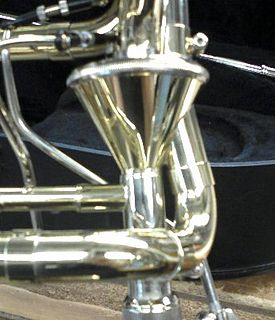 Axial flow valve valve found on trombones with F attachments
