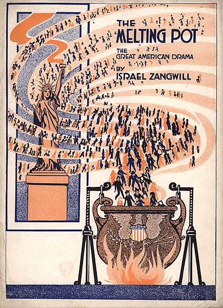The cover of Israel Zangwill's play, The Melting Pot