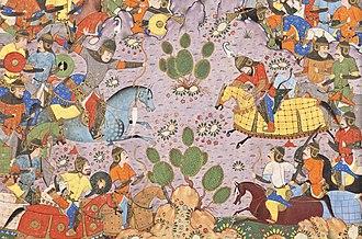 Bahram Chobin - Bahram Chobin fighting Bagha Qaghan.