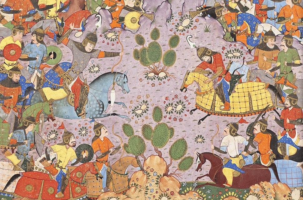The Battle between Bahram Chubina and Sava Shah LACMA M.2009.44.1 (3 of 9)