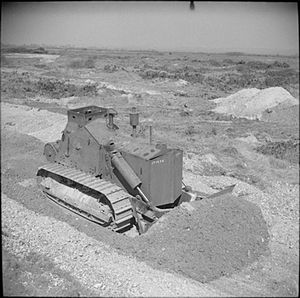 1st Somersetshire Engineers - British D7 armoured bulldozer