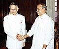The Chief Minister of Andhra Pradesh Shri Y.S. Rajshekhar Reddy calls on the Union Home Minister Shri Shivraj Patil in New Delhi on July 7, 2004.jpg